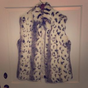 Other - Faux Fur Vest, Animal Print, so soft!